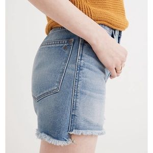 Madewell Perfect Jean Shorts Step Hem Edition